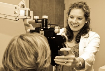 Eye exam by Birmingham optometrist Dr. Holly Young